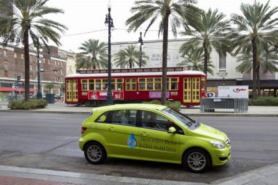 Mercedes-Benz B-Class F-Cell;  New Orleans to Baytown-Houston